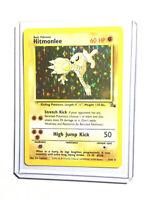 HITMONLEE - 7/62 - Fossil - Holo - Pokemon Card - EXC / NEAR MINT