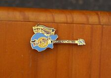 Hard Rock Cafe San Francisco Guitar Cable Car Metal & Enamel Pin Pinback