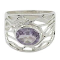 Edelstein Oval facettierten Amethyst Ring 925. Sterling Silber für Velentine DE