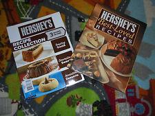 Lot of 2 Chocolate Cookbooks  2 Hersheys Recipe books YUM Best Loved cooking