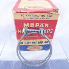 "NOS Mopar Hose Clamps 2-3/8"" 1930-1960 Chrysler Dodge Plymouth Mopar Box Qty 10"