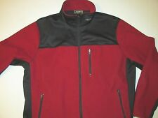 Eddie Bauer Red Black Windproof Wildcatter Fleece  Jacket Men's XL NY22