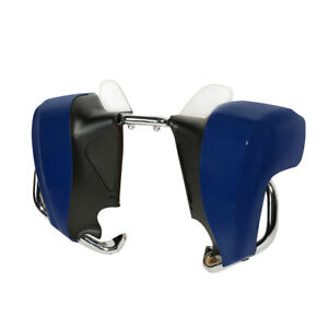 Blue Lower Fairing Assembly W/Mustache Crash Bar Fit For Indian Chieftain 14-20