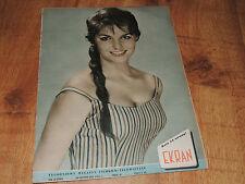 Ekran 47/1958 polish magazine Claudia Cardinale, Antonella Lualdi, Roberto Benzi