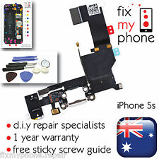 iPhone 5s White Lightning Jack Flex Connector Charging Port Microphone Tools