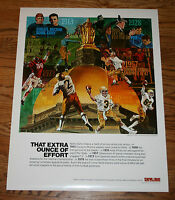 Notre Dame Irish Football Poster-Wainwright/Rockne/Gipper/Montana/Clements/1981