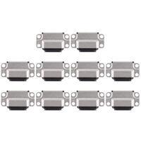 10 PCS Charging Port Connector for iPad Air 2 (Black)