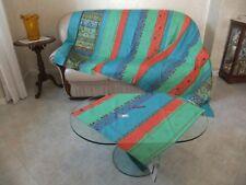 Granfoulard Bassetti 180x270 DUALA azzurro rosso copridivano telo sofa cover kit