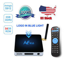 USA 2G 16G AE254 Android 6.0 TV Box S912 Octa Core 1000M LAN BT Airplay KD 17.0