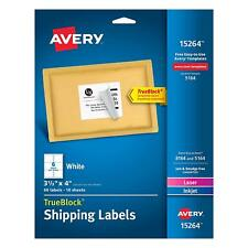 Avery Shipping Address Labels Laser Inkjet Printers 60 Labels 3 13x4 Label