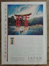 1931 Japan tourist bureau giarcola art color vintage ad