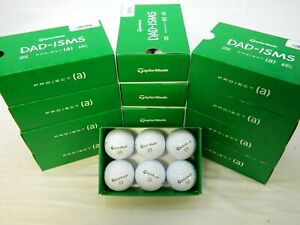 6 Dozen New Taylormade Project (a) DAD-ISMS 72 Golf Balls - Dad Phrases # 33 A