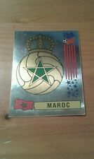N°401 BADGE LOGO FOIL # MAROC PANINI USA 94 WORLD CUP ORIGINAL 1994