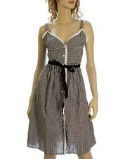 Black & White Gingham Rockabilly Sundress M Pinup