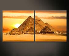 pirámides Wall Imagen Imágenes Lienzo AGYPTEN Faraón Giza Naranja XL Decoración