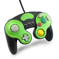Black & Lime Green Wired Controller for Nintendo Gamecube