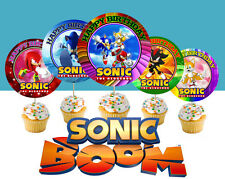 12 Sonic The Hedgehog Birthday Inspired Party Picks, Cupcake Toppers #1