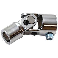 """1"""" DD To 5/8"""" -36 Spline Round U Joint Chrome Steel Steering Column Universal"""