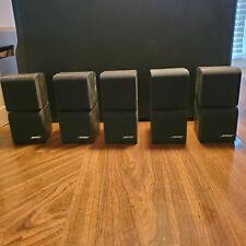 5 Bose Redline Cube Satellite Speaker Black Acoustimass 10  Used