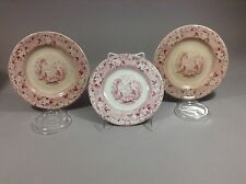 "Antique Historical Staffordshire Rhone Pattern Hn&A Plate 6.5"" 3pc"