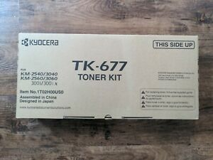 Brand New! Kyocera Original/Unopened OEM TK-677 Toner Kit (TK677) *NIB*