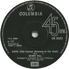 "BENNY HILL Ernie (The Fastest Milkman In The West) 1971 UK  7"" vinyl single 45"