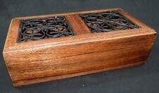 Coffret, boite de rangement en bois exotique