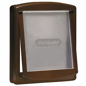 PetSafe Staywell Original 775 Large Dog Flap Pet Door 2-Way Locking Easy - Brown