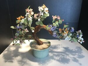 Jade Bonsai Tree In Other Chinese Collectibles 1900 Now For Sale Ebay