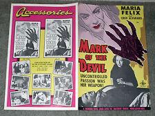 MARK OF THE DEVIL/DONA DIABLA original 1950 pressbook MARIA FELIX/CROX ALVARADO