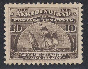 Newfoundland # 68 Mint Hinged Extra Fine Single