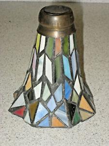 VINTAGE TIFFANY STYLE SMALL HEAVY LAMP SHADE