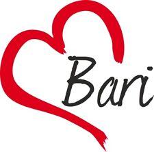 """Adesivo per auto """" BARI """" (Città) cuore Sticker ca.9x9 cm taglio contorno"""