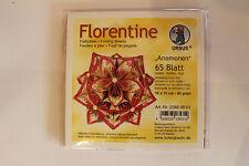 Faltblätter Florentine Anemonen 01 ; 65 Blatt 10 * 10  cm 80 g/qm