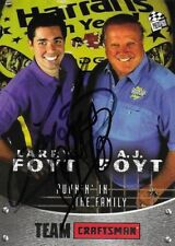 A.J. AJ LARRY FOYT AUTOGRAPHED 2003 PRESS PASS RACING NASCAR PHOTO TRADING CARD