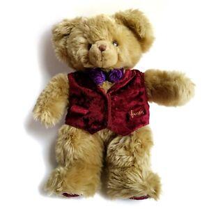 "Harrods of London Knightsbridge  Plush Teddy Bear Blond 17"" Tall"