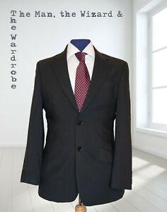 Next Mens Black Blazer Pure New Wool Jacket Size 36S