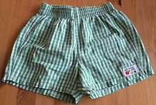 BABY GAP GREEN CHECK SHORTS AGE 6-12 MONTHS