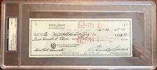 1987 Sam Snead Signed Check PSA MINT 9 Slabbed & Estate Certified Golf HOF