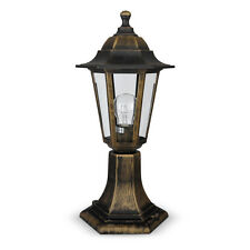 Victorian Style Brushed Bronze Black Outdoor Garden Lantern Light Lamppost Lamp