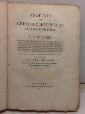 1819-Thenard:TRATTATO DI CHIMICA ELEMENTARE-LIBRO II-CORPI ORGANICI