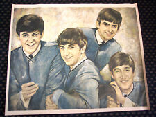 BEATLES - ORIGINAL 1964 BUDDIES CLUB OIL PORTRAIT w/ ORIG MAILING TUBE