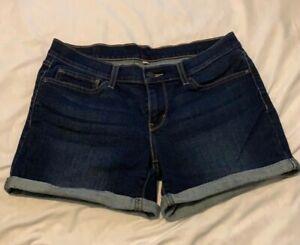 Levi Women's Mid-Length Dark Wash Shorts Size 8 W29