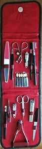 FINE TRAVEL ACCESSORIES KIT WITH NAIL CLIPPERS, FILES, SCISSORS, TWEEZERS & PLUS