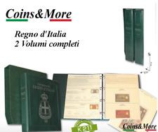 ALBUM RACCOGLITORE CARTAMONETA BANCONOTE REGNO D'ITALIA 2 VOLUMI NUOVI