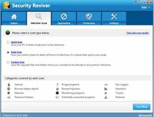 ReviverSoft Security Reviver, scan PC & identify security threats vulnerability