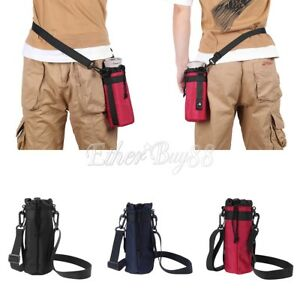 750ML-1000ML Water Bottle Carrier Insulated Cover Bag Holder Strap Pouch Outdoor