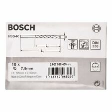 Bosch Metal drill bits HSS-R. DIN 338 7.5 x 69 x 109 mm 2607018430