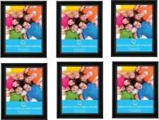 """[Pack Of 6] 8""""x10"""" (20 x 25 cm) Black Photo Frame - Ideal For Home, Office"""