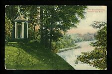 New York NY postcard Ballston Spa Kayderosserass Creek Gazebo Park